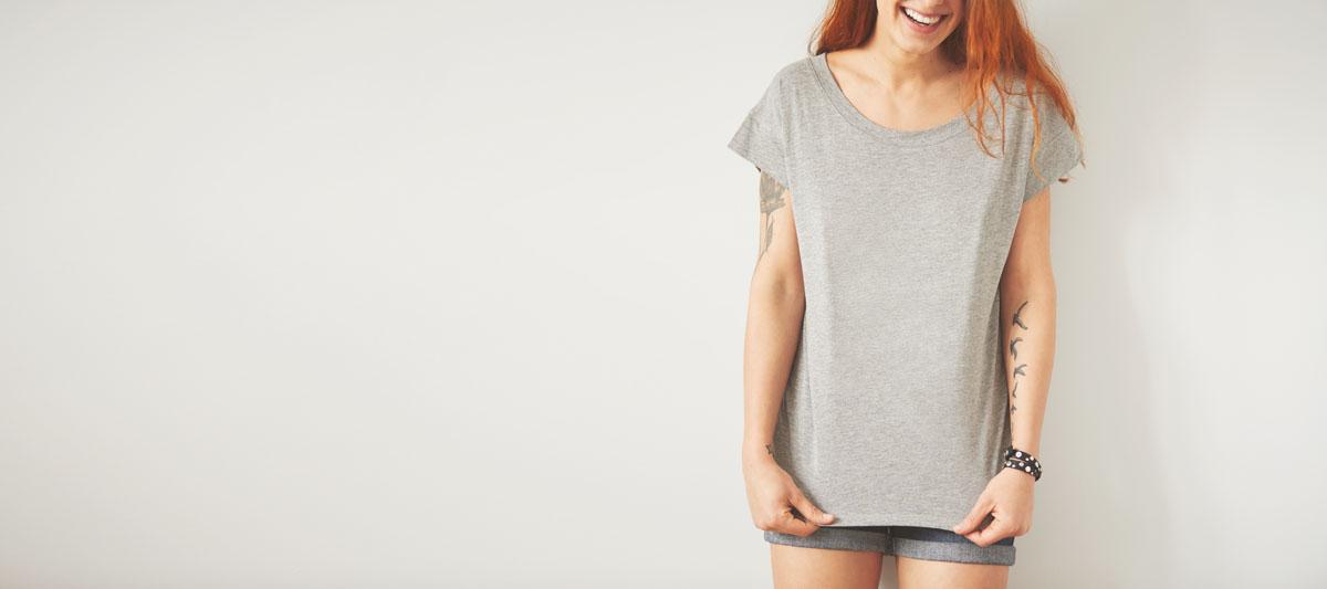 koszulka z krótkim rękawem koloru szarego